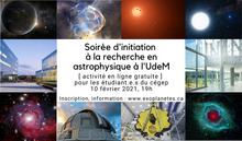 La Soirée d'initiation à la recherche en astrophysique pour les cégépiens : un succès !